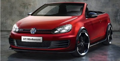 Volkswagen will be exposing their latest Golf GTI cabriolet variants at the Geneva Motor Show 2012.    VW Golf GTI Cabriolet has 207 horsepower and comes as the most powerful VW Golf model. The car is capable in reaching 100 km / h in 7.3 seconds and reaches its maximum speed at 147mph or 237 km / h.