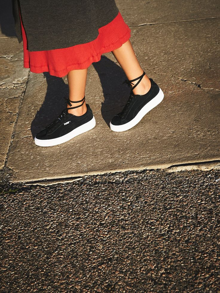 Suede Platform Sneaker | Classic Puma suede trainers get a modern update with an ultra cool platform sole. Front ridges.