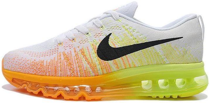Women Nike Flyknit Air Max White Grey Orange