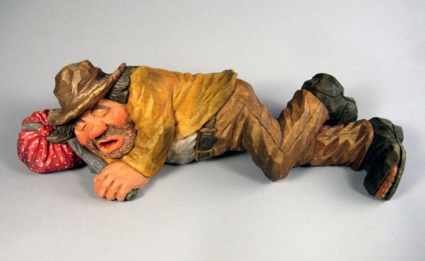 Quot grouch carved by harold enlow wood carvings