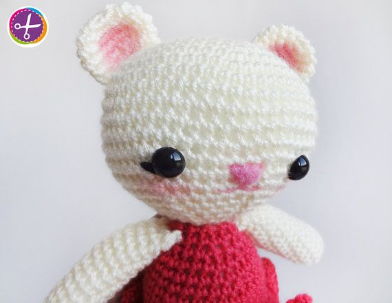 Fuchsia Miss Bear Amigurumi  Ready to Ship by HinaPalitah on Etsy