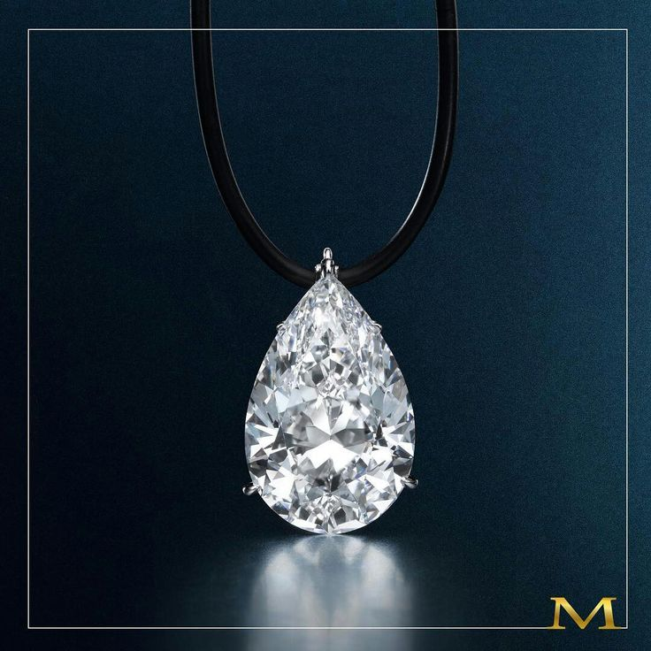 Extraordinary jewels... a 30+ carat internally flawless pear-shape diamond, only from the House of Moussaieff #extraordinary #special #jewels #pearshapeddiamonds #pearshape #diamond #necklace #moussaieffjewellers