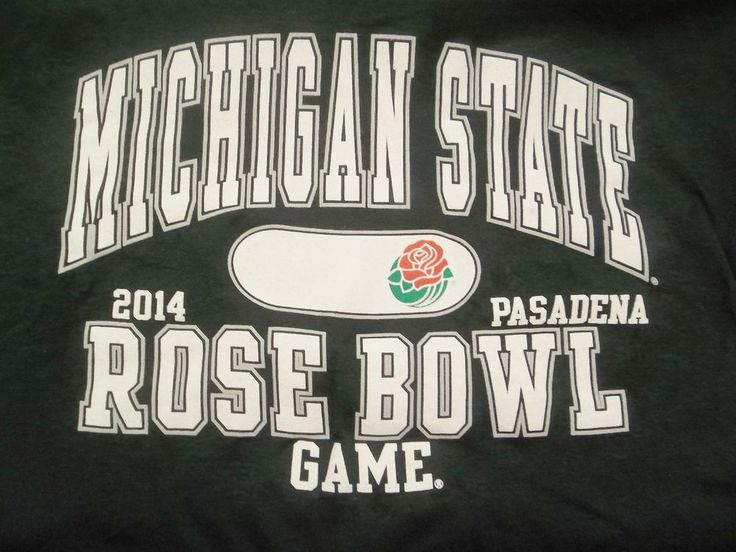 Michigan State 2014 Rose Bowl Game Pasadena T-Shirt Adult M Medium