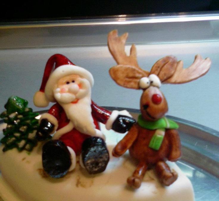 ...Santa Claus and reindeer...