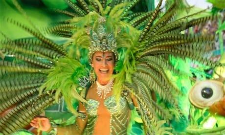 Samba Parade at the heat rising Carnival in Rio de Janeiro