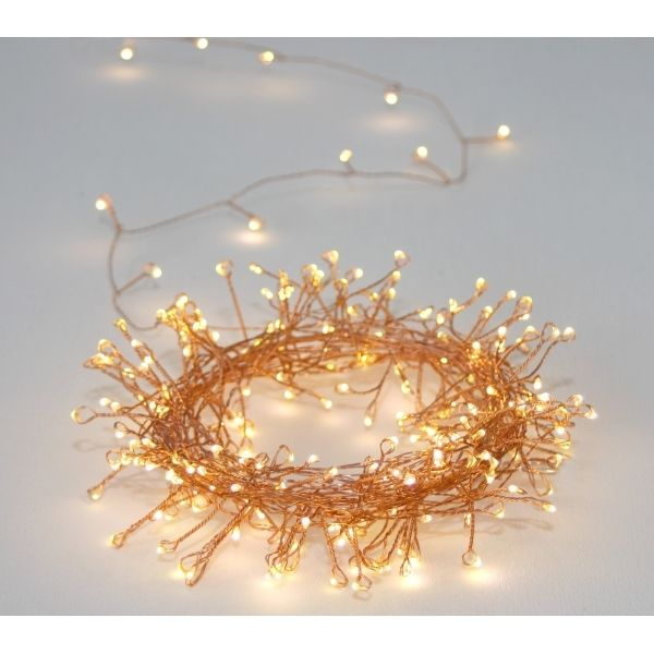 Cluster Copper 150 LED String Light Chain - Indoor / Outdoor