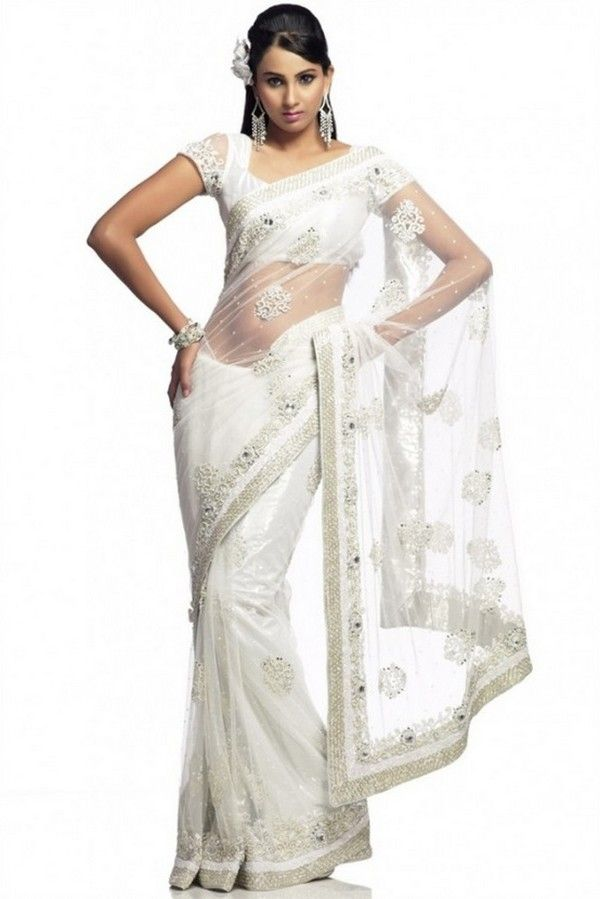 White Wedding Saree High Quality Products From Global Suppliers And Dresses Designs