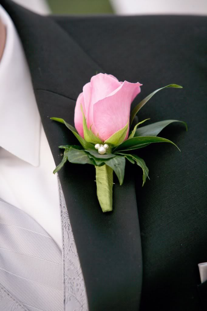 Boutonniere with hidden Mickey -  Wedding Spotlight at the Wedding Gazebo: Sara + Ian | Magical Day Weddings | A Wedding Atlas Fan Site for Disney Weddings