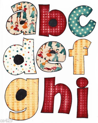 applique letters