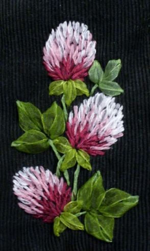 Clover Ribbon Embroidery