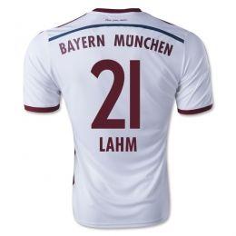 finest selection fc386 3af9b 14-15 FC Bayern Munich Cheap Lahm #21 Away White Replica ...