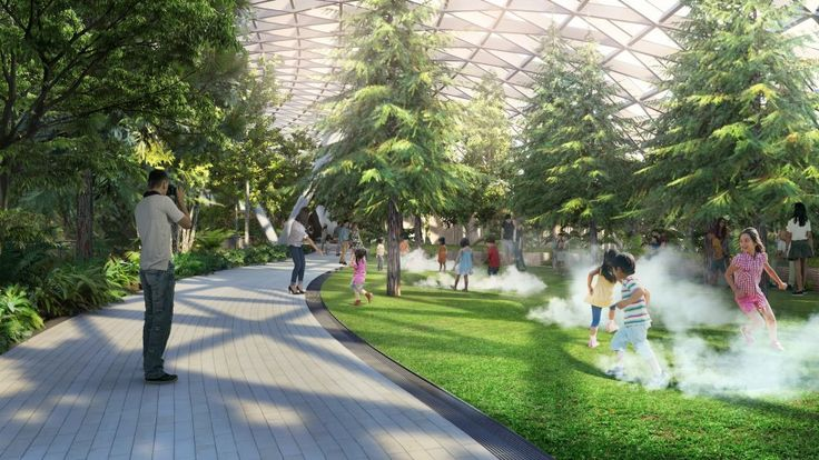 Jewel Changi Airport Devt.The Rain Vortex.For the fifth consecutive year, Singapore's Changi International has been named the best airport in the world by