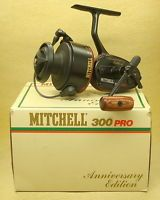 VINTAGE MITCHELL 300 PRO ANNIVERSARY FISHING REEL - BOX SERVICE KIT AND PAPERS