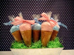 cotton candy ice cream cone favors