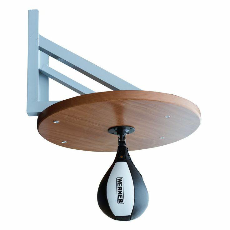 SOPORTE PARA PERA BOXING   Material: acero y tablero de madera. Apoyo de acero, con rodamiento.  Para ejercitar la velocidad en el boxeo. Ø 60 cm. x 3 cm.