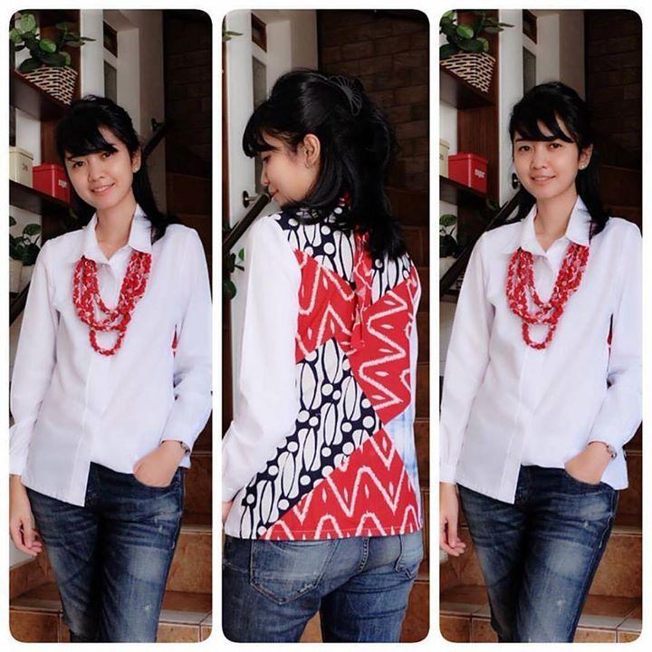 Kiran Batik nnf  LD>S:88cm M:92cm L:98cm XL:106cm XXL:112cm  P.Baju:65cm P.Tgn:57cm  Material:BatikKatun . . CP  LINE @bebatikanjogja (pakai '@')  WA 081904019099 (slow response)  Toko Baju Batik Modern | http://ift.tt/2flJQTw