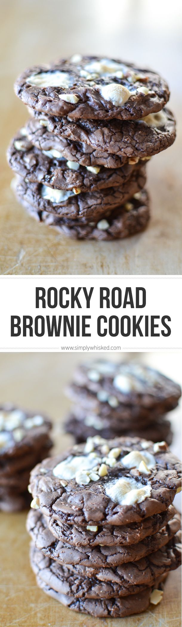 Rocky Road Brownie Cookies | EASY cookie recipe!
