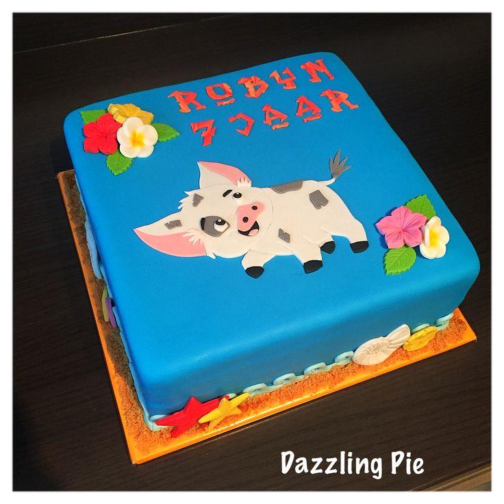 Vaiana taart/ Moana cake made by Dazzling Pie