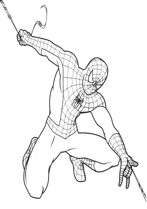 Dibujos Para Colorear De Spiderman Gratis Spiderman Dibujo