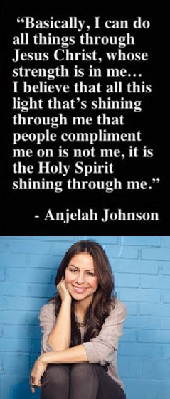 Anjelah Nicole Johnson is an American actress, comedian, and former NFL cheerleader. Johnson is most notable as a cast member on the series MADtv during its 13th season.  Her character Bon Qui Qui, a fast food employee who treats customers rudely, which she wrote herself, was received well, and gained a similarly large YouTube following.  Follow @FaithQuest