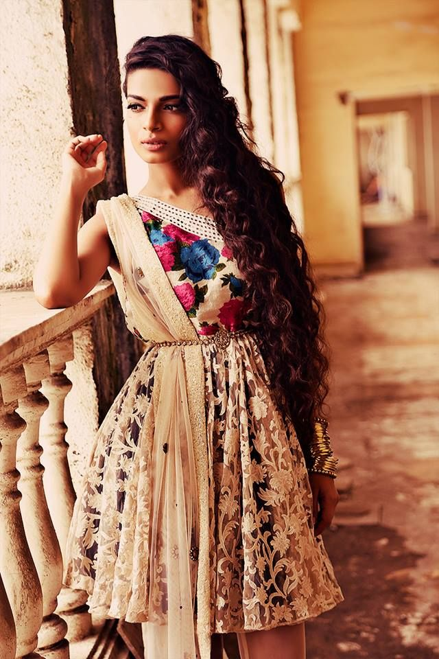 From Sapana Amin's Bohemian Rani Festive Collection 2013. Unique design & lovely patterns--just beautiful.