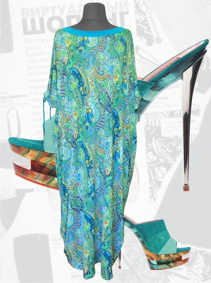 """33$ Платье свободного покроя для полных женщин из трикотажа холодок """"Венеция"""" Артикул 684, р50-64 Платья больших размеров  Платья свободного кроя больших размеров Платья в пол больших размеров  Летние платья больших размеров Платья макси больших размеров  Длинные платья больших размеров  Платья свободные больших размеров  Платья нарядные больших размеров  Дизайнерские платья больших размеров Красивые платья больших размеров  Модные платья больших размеров"""