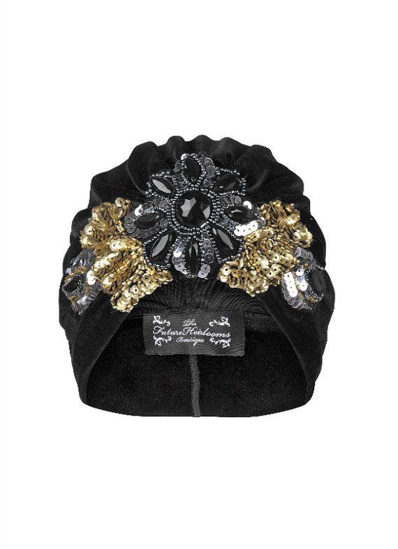 Rosa Floral Sequin Velvet Turban by TFHBoutique on Etsy