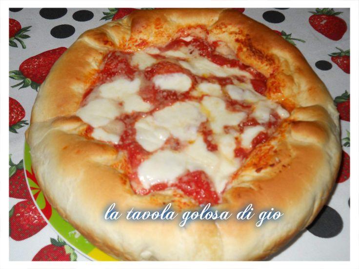 super pizza con cornicione di ricotta