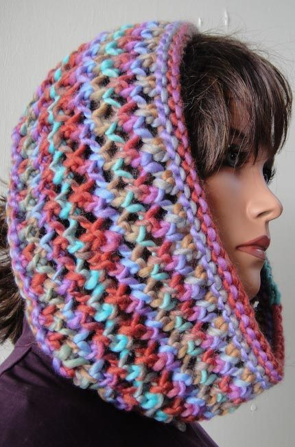 Knitting Pattern For Lace Snood : 17 Best images about Crochet - Hoodies, Cowl on Pinterest Ravelry, Snood an...