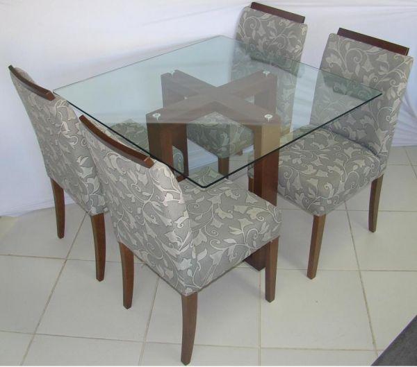 Mesa de Jantar turim 4 lugares com cadeiras Madri