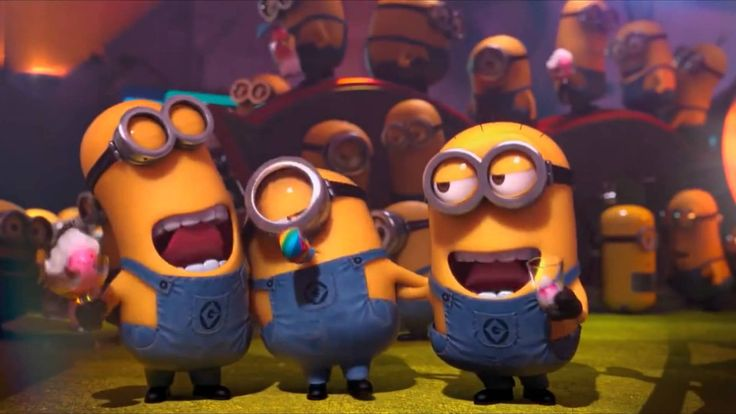 Little Minions singing the Happy Birthday Song Nursery Rhymes Kids Famil...