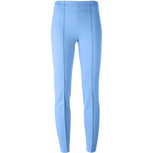 Emilio Pucci skinny trousers ($630) ❤ liked on Polyvore featuring pants, capris, blue, skinny pants, skinny trousers, blue skinny pants, emilio pucci and blue trousers