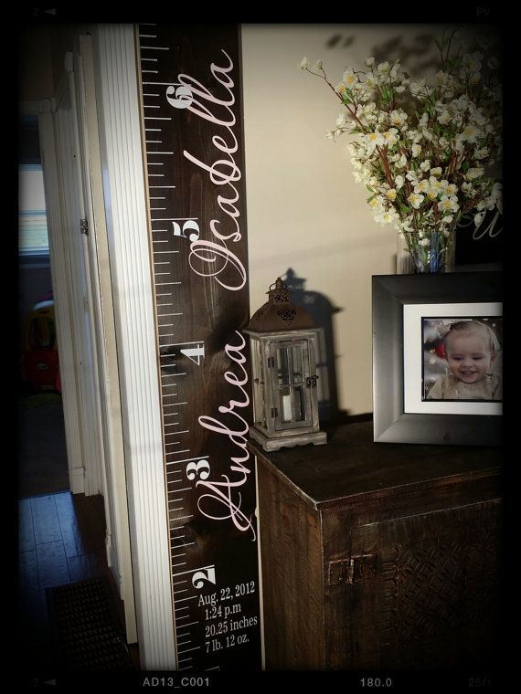 Buy Custom Growth Chart, Growth Chart Ruler Vinyl Decal, Child Growth Chart by paolabrownshop. Explore more products on http://paolabrownshop.etsy.com