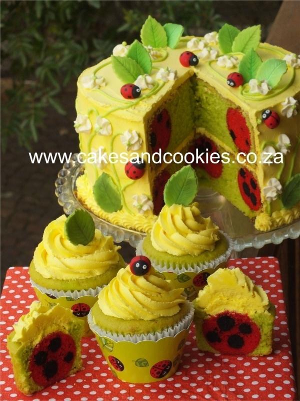 Ladybug Cake ~ inside and out!Ladybird Cake, Ladybug Cakes, First Birthday, Ladybird Inside, Ladybugs Cake, 3Rd Cupcakes Girls, Ladybugs Inside, Lady Bugs, Cupcakes Rosa-Choqu