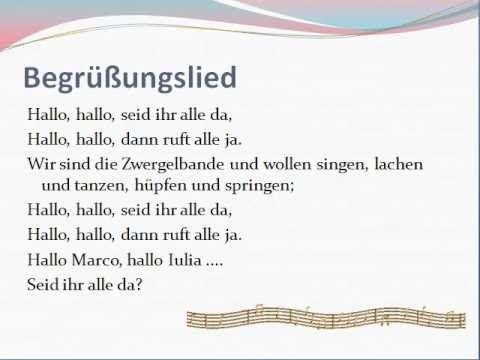Krabbelgruppe Lieder - Begrüßungslied