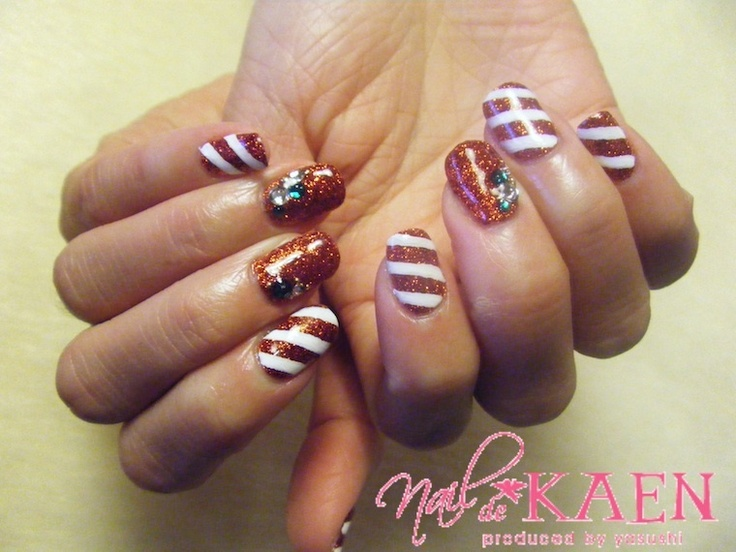 Candy Cane Nails by Momo