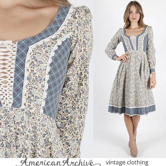 Gunne Sax jurk Jessica McClintock jurk Prairie door AmericanArchive