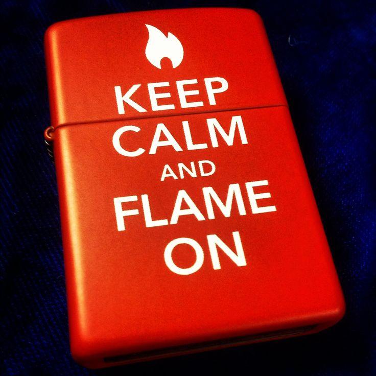 Keep Calm and Flame On Zippo Lighter