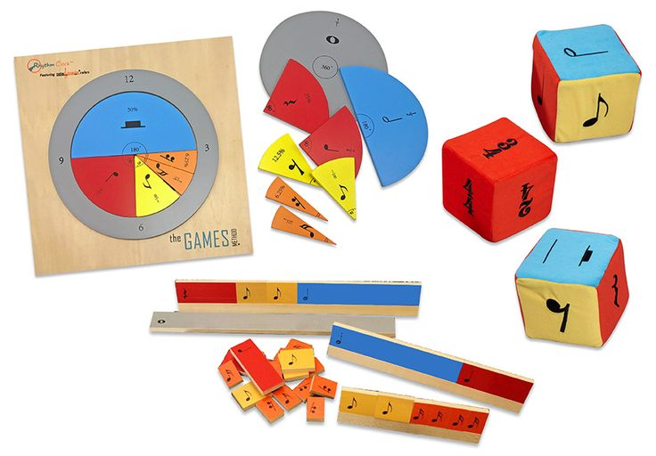 NOTE KNACKS TEACHER KIT, DICE & RHYTHM CLOCK SET - This set includes:  Kristin Pugliese's Note Knacks Wooden Rhythm Kit with CD of 25 lesson plans Note Knacks Jumbo Dice Rhythm Clock puzzle board & 31 pieces, DVD, & carrying case.