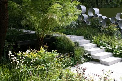 : Gardens Ideas, Garden Ideas, Garden Design, Garden Walls, Gardens Artworks, Garden Stairs, Gardens Stairs, Gardening Flowing, Effortless Gardens