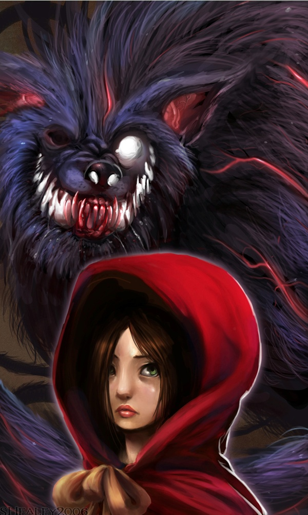 "Little Red and the Wolf from ""Ever After"" -  S. Healey ""Endling"""