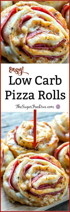 Lecker !! Pizza Rollen! Und dieses Rezept ist auch kohlenhydratarm! #Lowcarb #Rezept #Pizza #Piz …