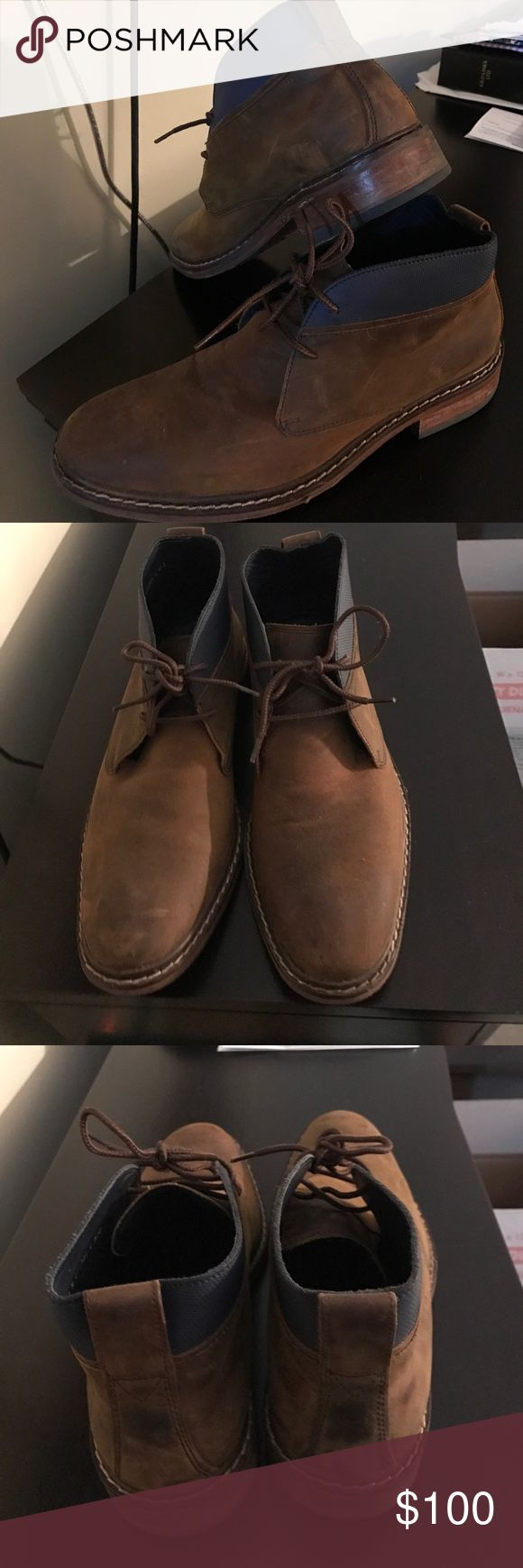Cole Haan men's boots Very fashionable Cole Haan boots for men. Size 9. Worn 3x max! Great condition. Cole Haan Shoes Boots
