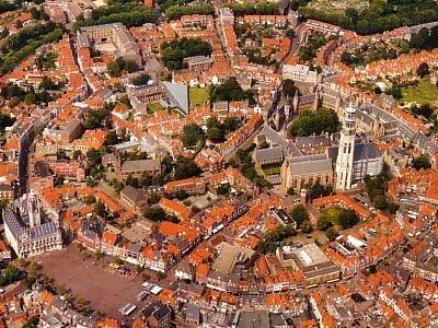 A bird's eye view of Middelburg