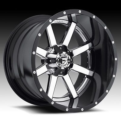 24 inch 24x8.25 FUEL MAVERICK DUALLY CHROME wheel rim 8x6.5 8x165.1 +131