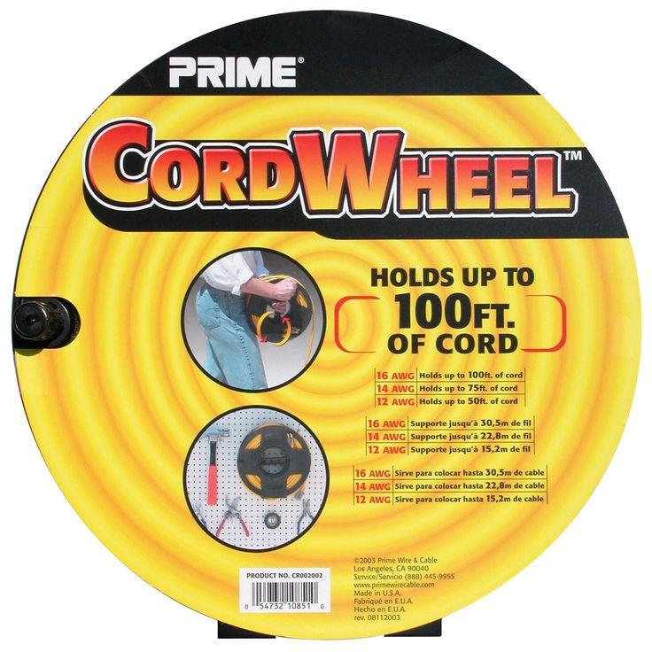 "Prime CR002002 4.25"" X 11.00"" X 11.00"" Cord Storage Wheel"