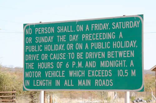Sign Reading Challenge - Good luck! You'd have to be driving 5 mph to read this entire sign as you drive by. Then after you read it, it will take you an hour or so to try to figure out what it meant