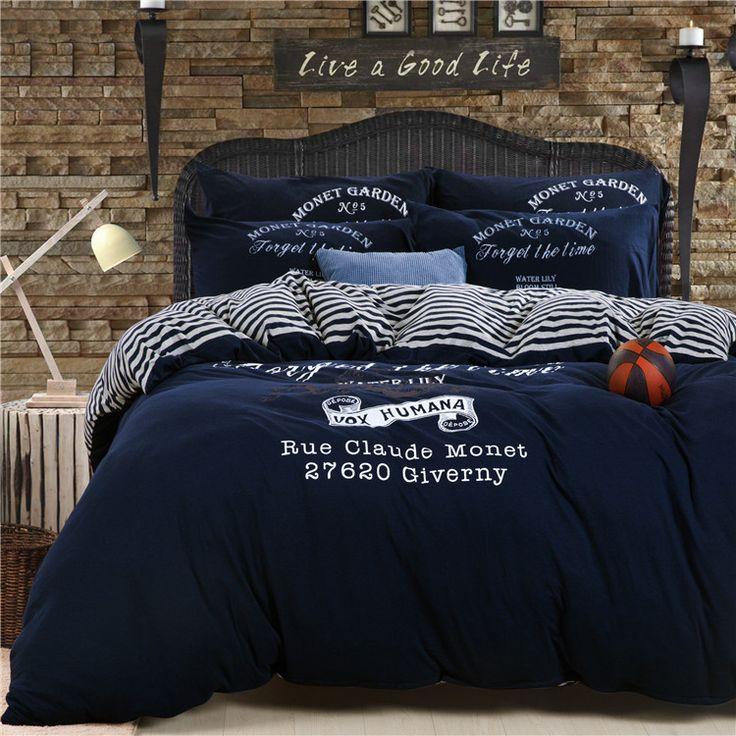 Мужские 100% хлопок трикотажные хлопок кусок комплект muji 100% хлопка высокое качество постельные принадлежности установлены льняной ткани конкурентоспособными дома texile купить на AliExpress