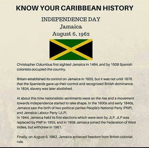 Jamaica Independence Day - Know Your History