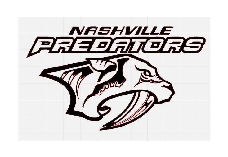 Nashville Predators NHL Hockey Team Logo Decal Sticker #hockeynhlteamsdecals